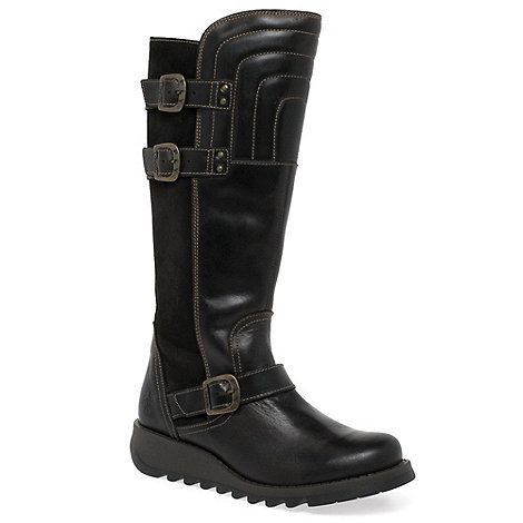 Fly London Dark brown 'Sher' womens long boots | Debenhams