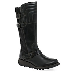 Fly London - Dark grey 'Sher' womens long boots