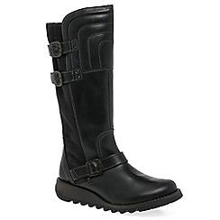 Fly London - Dark grey 'Sher' womens long boots