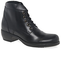 Fly London - Black 'Mesu' womens black lace up ankle boots