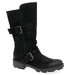 Fly London - Black 'Naio' womens calf length boots