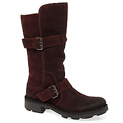 Fly London - Wine 'Naio' womens calf length boots