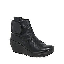 Fly London - Black 'Yegi' womens casual boots