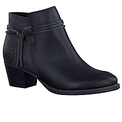 Marco Tozzi - Black 'Paradise' womens casual ankle boots