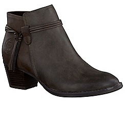 Marco Tozzi - Grey 'Paradise' womens casual ankle boots