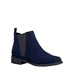 Marco Tozzi - Navy 'Spritzer' womens chelsea boots
