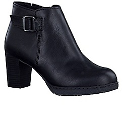 Marco Tozzi - Black 'Modernista' womens ankle boots