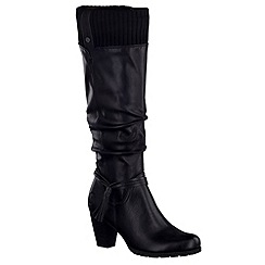 Marco Tozzi - Black 'Bronx' womens long boots