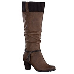 Marco Tozzi - Brown 'Bronx' womens long boots