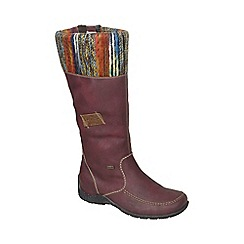 Rieker - Wine 'Almada' womens long boots