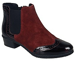 Rieker - Maroon 'Lagos' womens chelsea boots