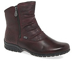 Rieker - Wine 'Vogue' womens casual ankle boots