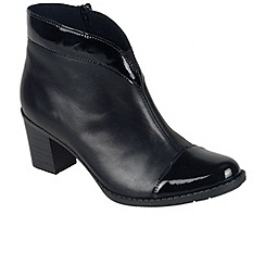 Rieker - Black 'Arc' womens ankle boots