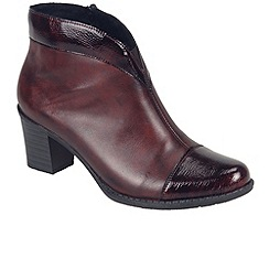 Rieker - Maroon 'Arc' womens ankle boots
