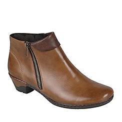 Rieker - Brown 'Harris' womens casual ankle boots