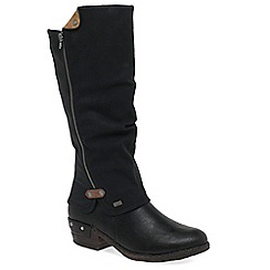Rieker - Black 'Sierra' womens long boots