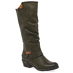 Rieker - Olive 'sierra' knee high boots
