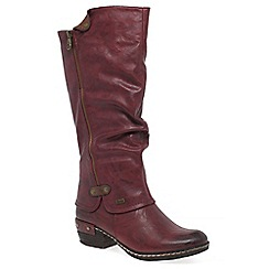 Rieker - Wine 'Sierra' womens long boots