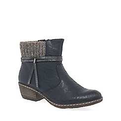Rieker - Dark Blue 'Scene' womens casual ankle boots