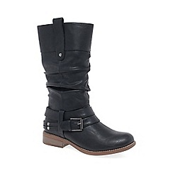 Rieker - Black 'Study II' womens calf length boots
