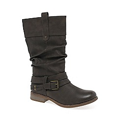 Rieker - Chocolate 'Study II' womens calf length boots