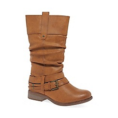 Rieker - Tan 'Study II' womens calf length boots