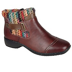 Rieker - Maroon 'Jenny' womens casual ankle boots