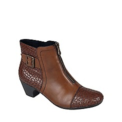 Rieker - Brown 'Morgan' womens ankle boots