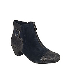 Rieker - Navy 'Morgan' womens ankle boots