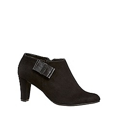 Van Dal - Black 'Orford' womens wide fit suede shoe boots