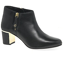 Van Dal - Black leather 'Arial II' mid heeled ankle boots