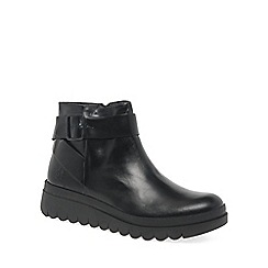 Fly London - Black 'Halp' womens ankle boots