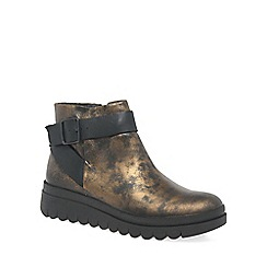 Fly London - Bronze 'Halp' womens ankle boots