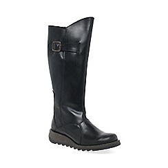 Fly London - Black 'Mol 2' womens long boots