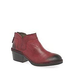 Fly London - Red 'Dias' womens ankle boots
