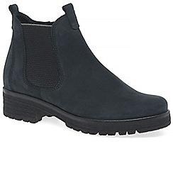 Gabor - Dark blue nubuck 'Agenda' Chelsea boots