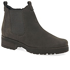 Gabor - Grey nubuck 'Agenda' Chelsea boots