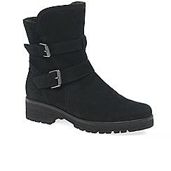 Gabor - Black nubuck 'shiraz' womens modern high cut ankle boots