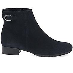 Gabor - Black suede 'Partner' ankle boots