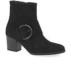 Gabor - Black suede 'Lush' high heeled ankle boots