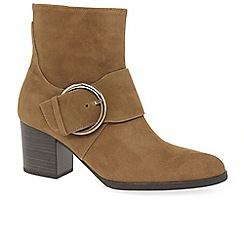 Gabor - Light brown suede 'Lush' high heeled ankle boots