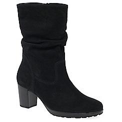 Gabor - Black nubuck 'rotterdam' womens casual calf length boots