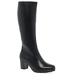 Gabor - Black leather 'Hillary M' Womens Long Boots