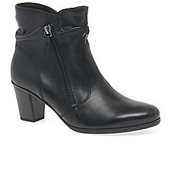 Gabor - Black leather 'ellie' womens ankle boots