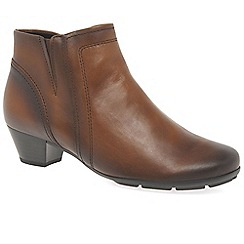 Gabor - Brown leather 'heritage' womens modern ankle boots