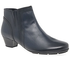 Gabor - Dark blue leather 'Heritage' womens modern ankle boots