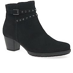 Gabor - Black nubuck 'Treat' Womens Modern Ankle Boots