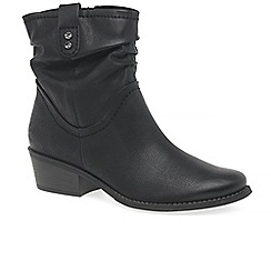 Marco Tozzi - Black 'malina ii' mid heel ankle boots