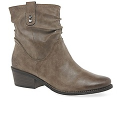 Marco Tozzi - Brown 'malina ii' mid heel ankle boots