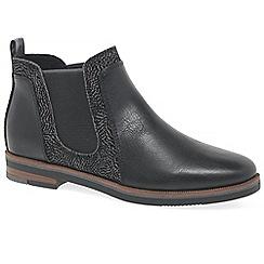 Marco Tozzi - Black 'admiral' flat chelsea boots